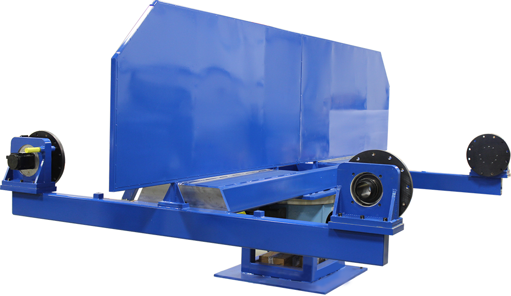 double trunnion blue side view
